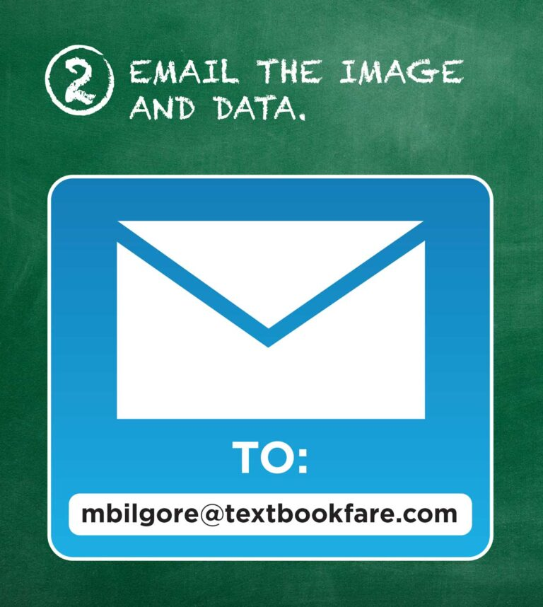 Email the image and data to mbilgore@textbookfare.com